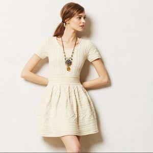 Anthropologie sweater mini dress